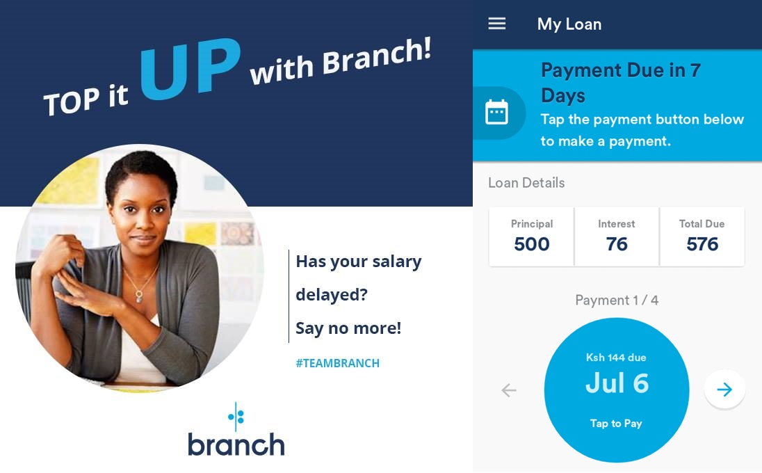 branch loan late repayments